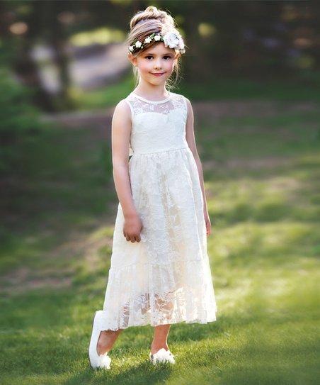 c02c18926eec love this product Ivory Ella Lace Sleeveless Dress - Infant
