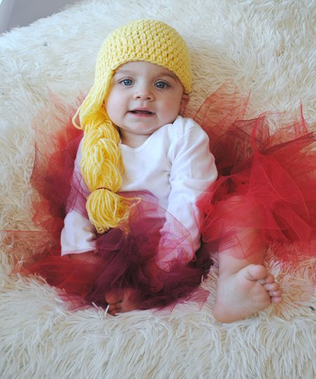 Maddies Mad Hatters Princess Tutu   Crochet Wig Hat Set - Newborn ... 7bdabef12