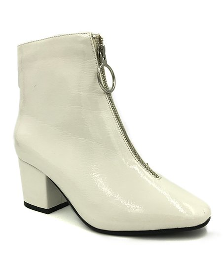 7d7d87a9b love this product White Zip-Up Upscale Ankle Boot - Women