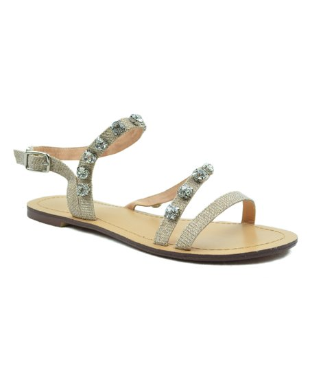 f5496dc9062d love this product Nude Glitter Asher Gladiator Sandal - Women