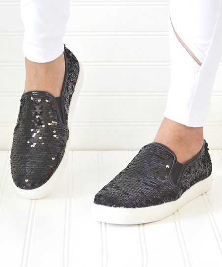 Mata Shoes Black Sequin Layla Slip-On Sneaker - Women  4488894dd