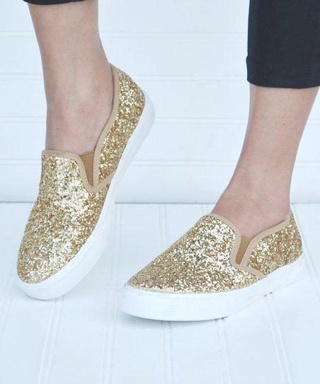 Mata Shoes Gold Glitter Slip-On Sneaker - Women  965467c45