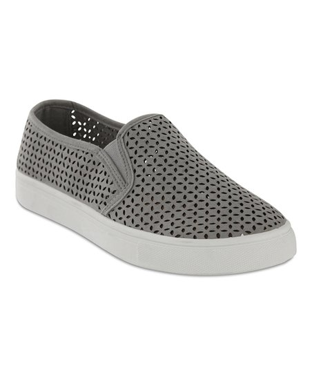 MIA Shoes Gray Edith Slip-On Sneaker