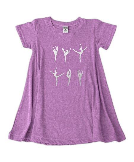 b24b584b0 Mauve Ballerina Silhouettes T-Shirt Dress - Toddler   Girls