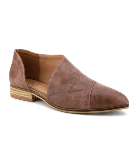 c9370c4086b love this product Mauve Side-Cutout Carter Loafer - Women