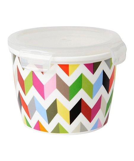 Merveilleux Ziggy Round Porcelain Food Storage Container