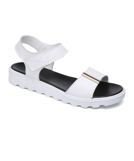 a957a4be3e5 love this product White Leather Platform Sandal - Women