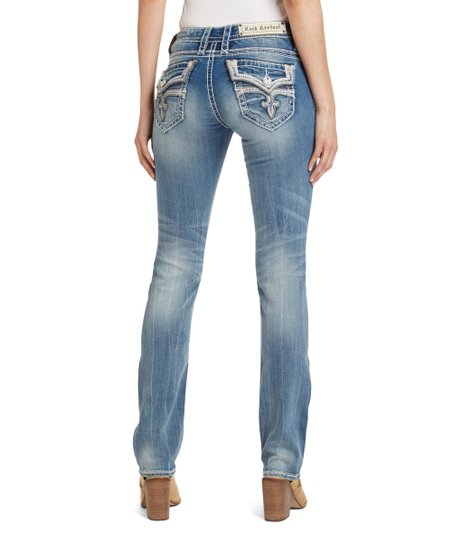 21d7bb9c67ef5 Rock Revival Blue Jen Straight-Leg Jeans - Women | Zulily