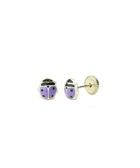 c65d2ae16 love this product Purple & 14K Gold Small Ladybug Stud Earrings