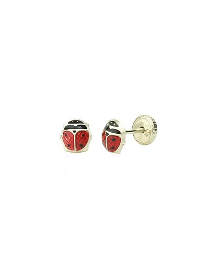 cdad264ac love this product Red & 14K Gold Small Ladybug Stud Earrings