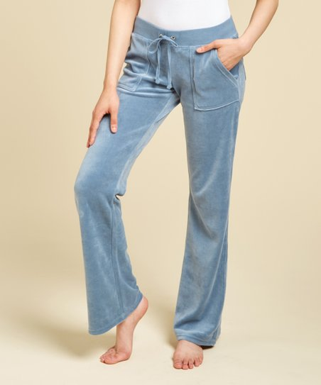 Juicy Couture Dusty Navy Del Rey Velour Lounge Pants - Women  40c68d16b