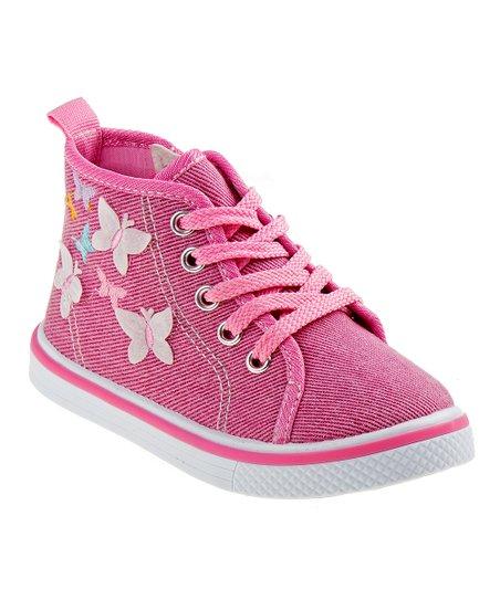 ba0bf57dfc26 Laura Ashley® Pink Glitter Hi-Top Sneaker - Girls | Zulily