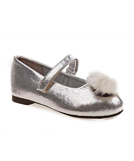 bd4fdd91619 love this product Silver Shimmer Pom Ballet Flat - Girls