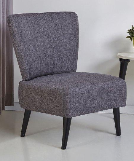 Gold Sparrow Dark Gray Fontana Accent Chair Zulily