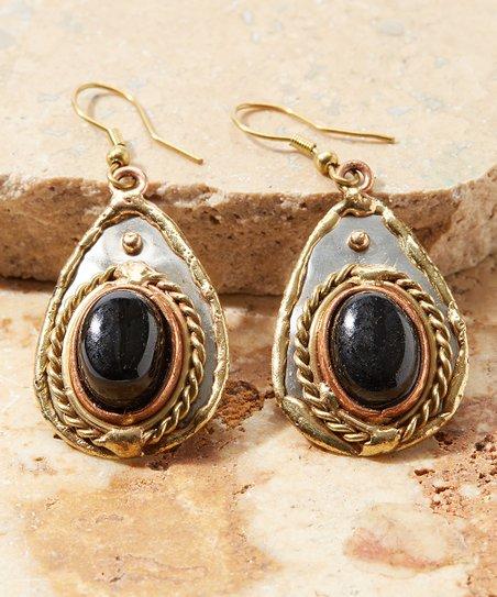 280d89297 Anju Black Onyx Teardrop Earrings   Zulily