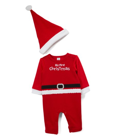 4c23de9ca love this product Red Santa 'My First Christmas' Playsuit & Beanie Set -  Infant
