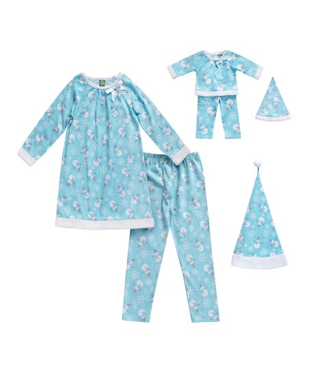 fbb29a8772d3 love this product Blue Snowman Pajama Set & Doll Pajama Set - Toddler &  Girls
