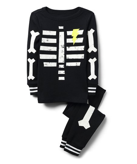 4f7029c08cd9 Gymboree Black Skeleton Glow-in-the-Dark Pajama Set - Boys