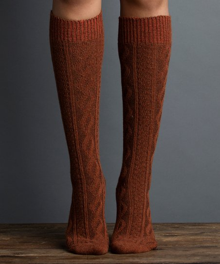 ff5dd4ae27d love this product Bronze Cable-Knit Knee-High Socks - Women