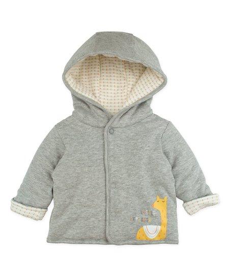 989f9256a888 Sunny   Sal Heather Grey Hooded Jacket - Infant