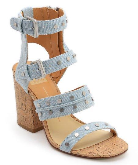 46131afa2ee Dolce Vita Light Blue Eddie Denim Gladiator Sandal - Women