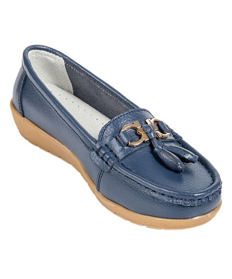 0821c86c366 love this product Navy   Gold Ring Leather Loafer - Women