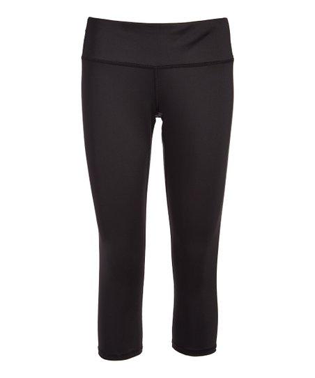 352d62115b58b4 Copper Fit® Black Energy Capri Leggings - Plus | Zulily
