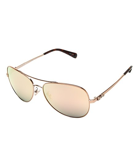 70e97788c love this product Rose Gold Aviator Sunglasses