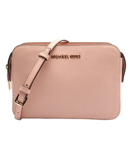 22df5cb593cc Michael Kors Pastel Pink Adele Leather Crossbody Bag | Zulily
