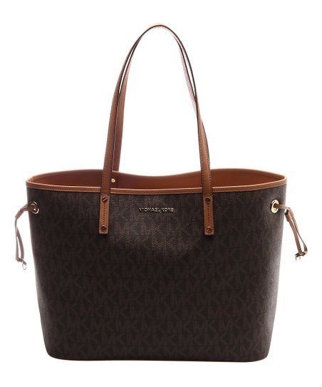 Michael Kors Brown   Acorn Jet Set Travel Tote  f038d0ef2