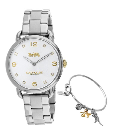 Coach Two Tone Delancey Bracelet Watch Charm Bangle Zulily