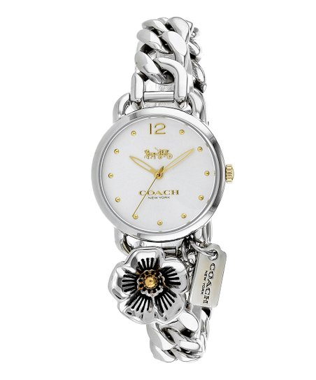 Coach Silvertone Madison Charm Bracelet Watch Zulily