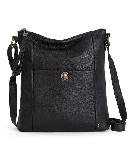 Elliott Lucca Black Coraline Leather Crossbody Bag Best Price And Reviews Zulily