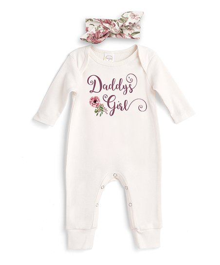 ede7568af25 love this product Ivory  Daddy s Girl  Romper   English Rose Headband -  Newborn   Infant