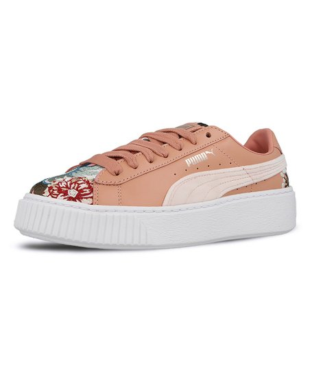 35fc12c60533 love this product Peach Beige Platform Hyper Embroidered Sneaker - Women