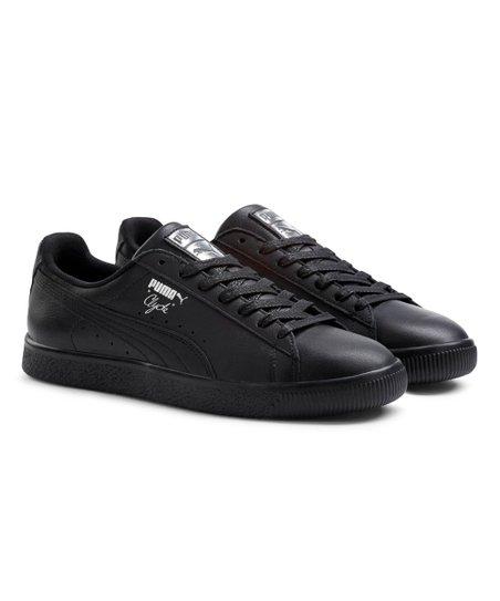 newest collection e808f 78cdf PUMA Black & Silver Clyde Core L Foil Leather Sneaker - Men