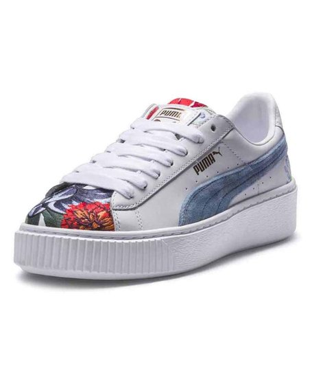 bd458d73e5b7 love this product White Platform Hyper Embroidered Sneaker - Women
