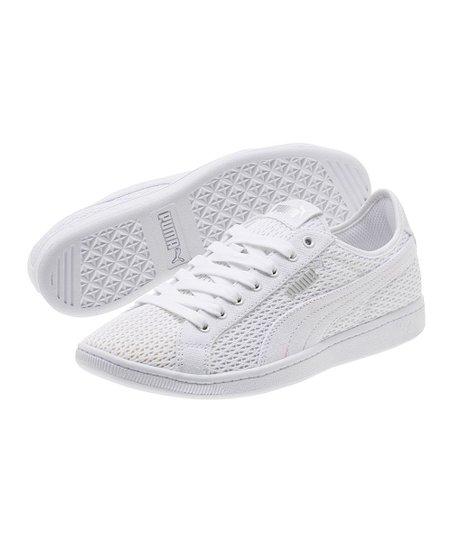 PUMA White Vikky Mesh Sneaker - Women