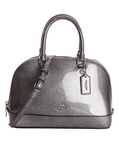 Coach Silver Glitter Leather Mini Sierra Dome Satchel   Zulily a54caf7407