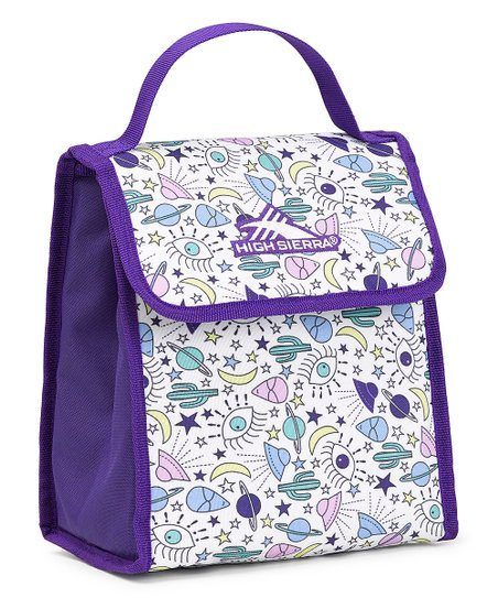 5372ec704877 High Sierra Deep Purple & White UFO Insulated Classic Lunch Bag
