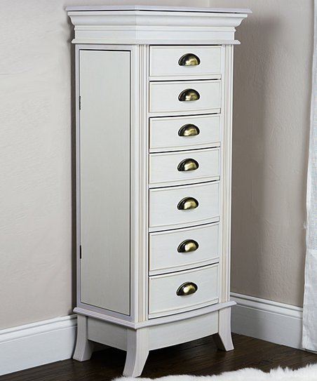 Charmant Hives U0026 Honey White Hillary Jewelry Armoire