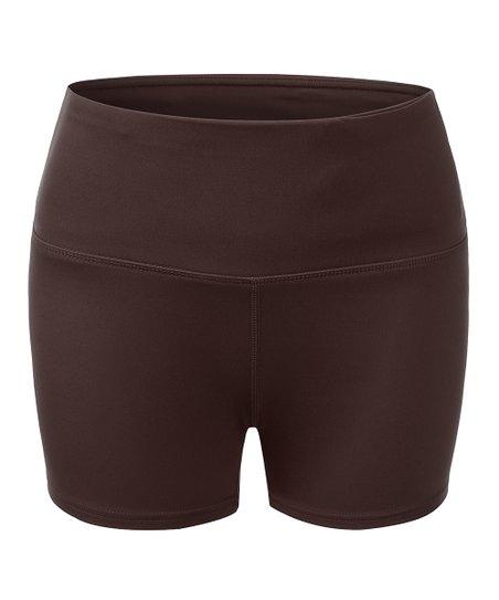 b176e9fbef Yoga Ruru Dark Brown Tummy-Control High-Waist Running Shorts - Women ...