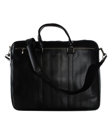 Longchamp Black Leather Messenger Bag  717b32801f228