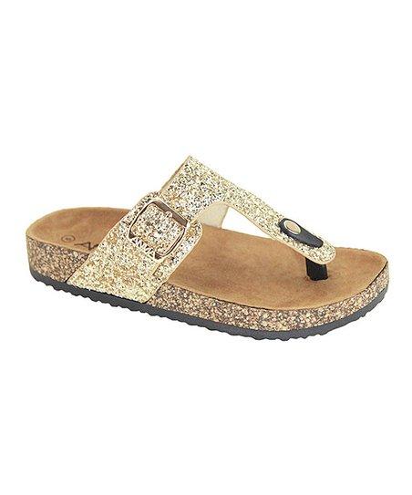 Anna Gold Glitter Glory Sandal - Women