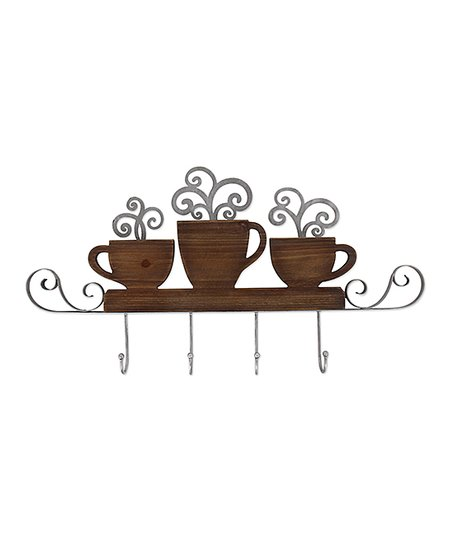 Brown Coffee Mug Wall Hook