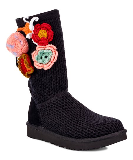 Ugg Black Crochet Classic Boot Women Zulily