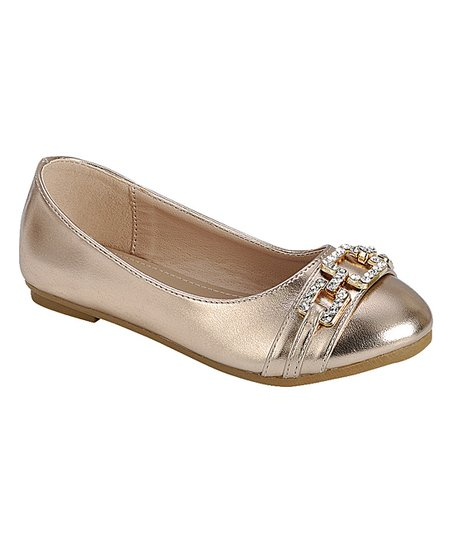 266cc49dbe3 love this product Rose Gold Olivia Ballet Flat - Girls