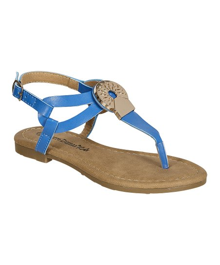 1386c10b5b76 love this product Royal Blue Jewels Sandal - Girls