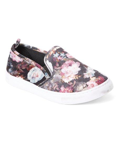 Pink Floral Slip-On Sneaker - Women