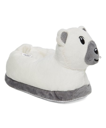 get new great prices classic style Zac & Evan White Bear Faux Fur Slipper - Kids